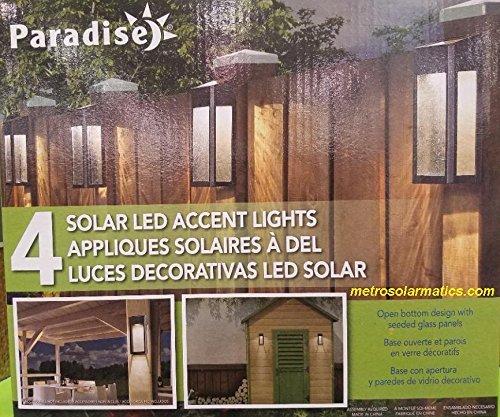 Paradise Solar 4 LED Accent Lights 10 Lumens Cast-Aluminum Outdoor Decor