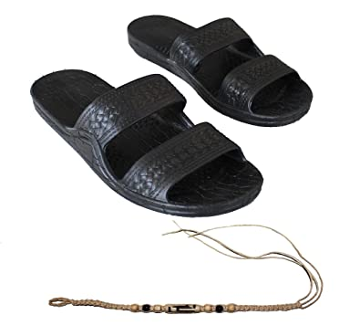 1039b90048ea0 Rubber Double Strap Jesus Sandals by Imperial Hawaii for Women Men and  Teens with 1 Braded
