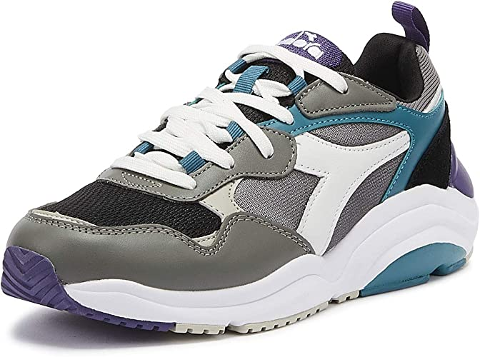 Diadora Whizz Run Hombres Gris/Azul Zapatillas-UK 8 / EU 42: Amazon.es: Zapatos y complementos