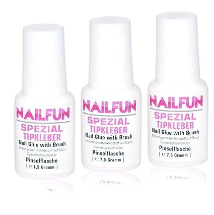 NAILFUN Pegamento Especial para Uñas 3 x 7,5 g: Amazon.es: Belleza
