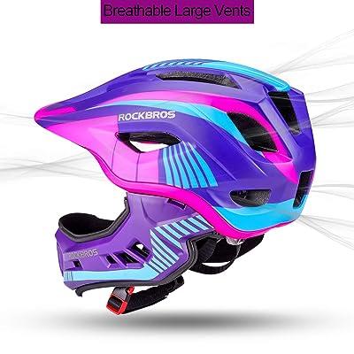 ROCKBROS Children Full Face Sport Helmet Detachable Bicycle Child Safety Helmet