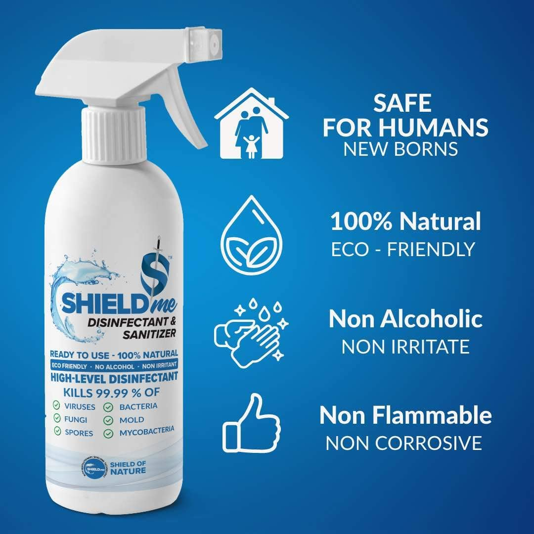 SHIELDme High Level Disinfectant & Sanitizer - 500ml 3