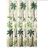 Tropical Oasis Palm Tree Shower Curtain, Green