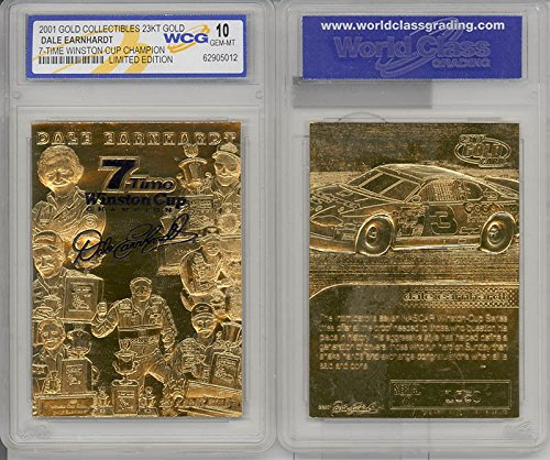 DALE EARNHARDT 2001 23KT Gold Card Sculpted *7-TIME CHAMPION* Graded GEM MINT - Collectibles Dale Earnhardt