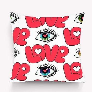 Amazon.com: eiquISs Funda de almohada Ojos Amor Ojo Colorido ...