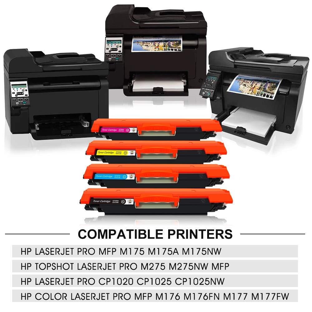 CMYBabee Cartuchos de toner compatibles para HP 126A (CF341A) 130A ...