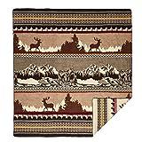 """Ecuadane Colorado Mountain blanket Large blanket made in Ecuador 82"""" x 93"""""""