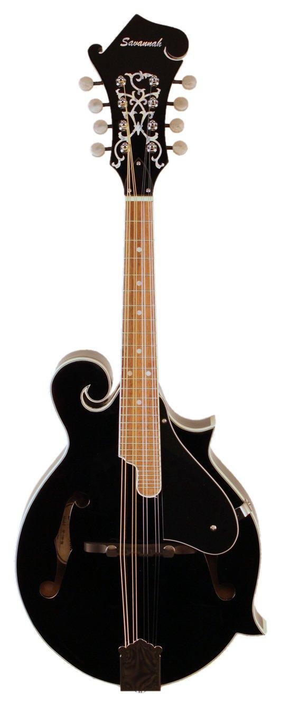 Savannah SF-100-BK F-Model Mandolin, Black