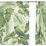 rideau de fen tre luxe tropical palm for t imprim. Black Bedroom Furniture Sets. Home Design Ideas