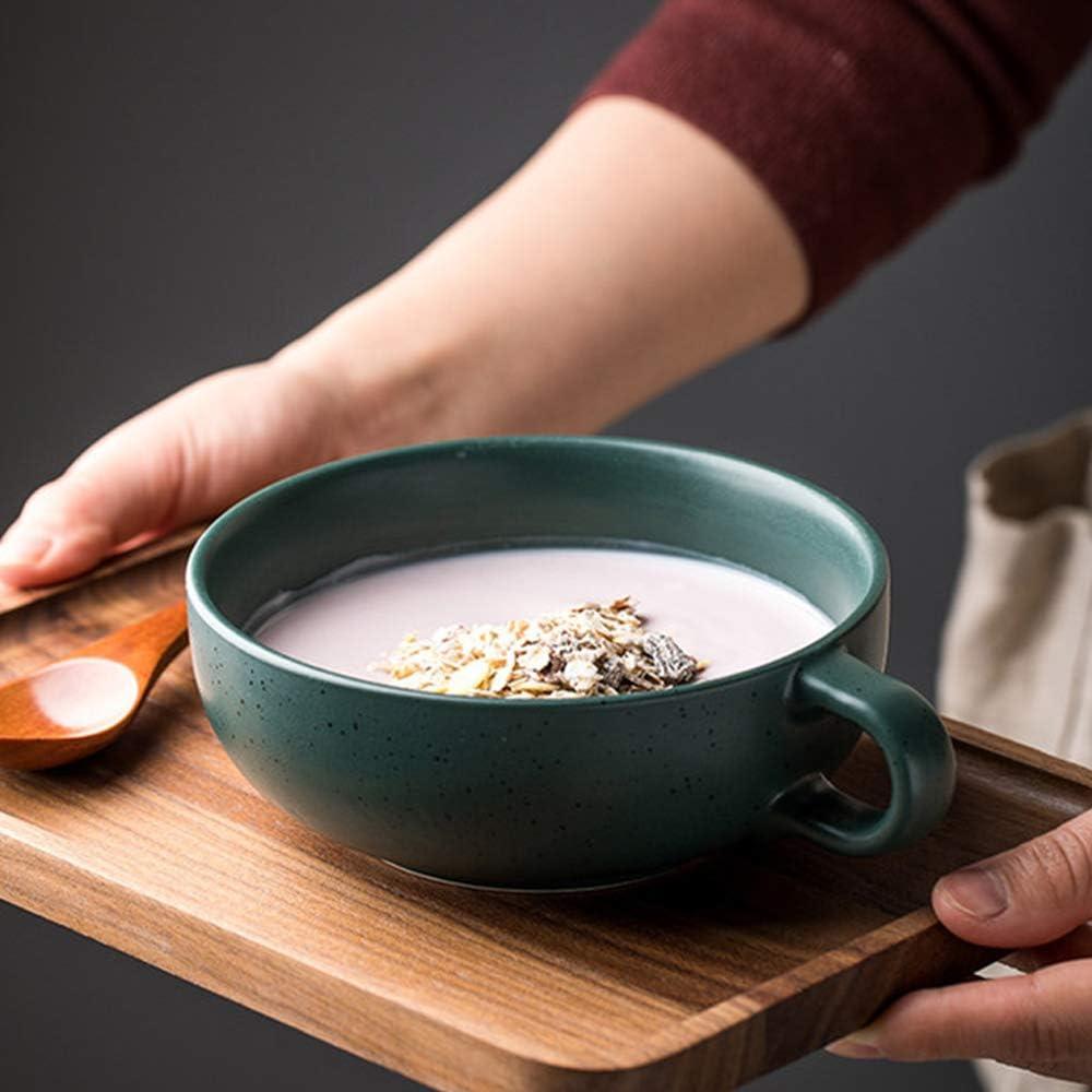GAK Cerámica Desayuno Cereal Cuenco Grandes Avena Leche Tazón Premium Japonés Estilo Porcelana Vajilla Verde: Amazon.es: Hogar