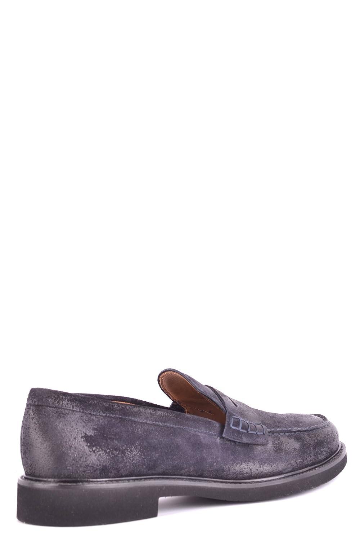 Men's MCBI102022O Blue Suede Loafers