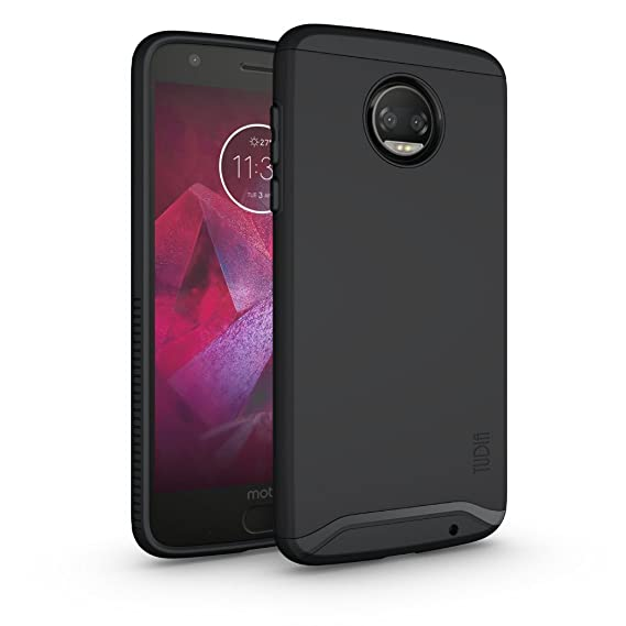 4711ccf6fd4 Moto Z2 Force Case, TUDIA Slim-Fit Heavy Duty [Merge] Extreme Protection