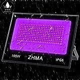 ZHMA 100W UV LED Black Light,IP66 Waterproof UV