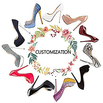 c1b1a6c45 onlymaker Customization is Available Design Your Own Shoes Black   Amazon.co.uk  Shoes   Bags