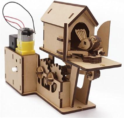 Cuckoo Clock Wood Craft Assembly Wooden Construction Clock Kit Cuckoo Clocks