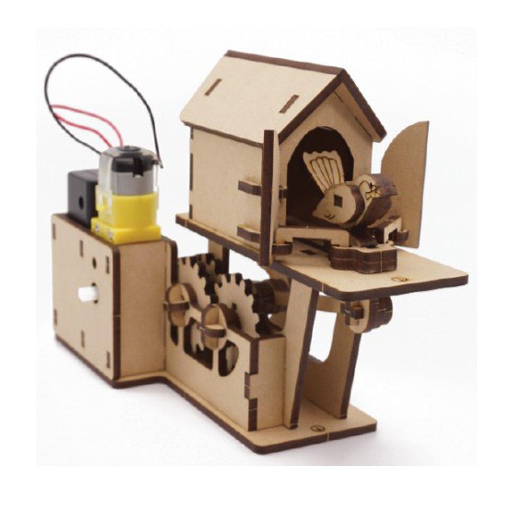 人気ブランドの マイズDIY木製モーターAutomata木製アセンブリモデルキット( B077WY27CV Moving Moving Cuckooクロック機械3dパズル子供&大人、ホーム部屋オフィス内部 B077WY27CV, アサバチョウ:838566ef --- a0267596.xsph.ru