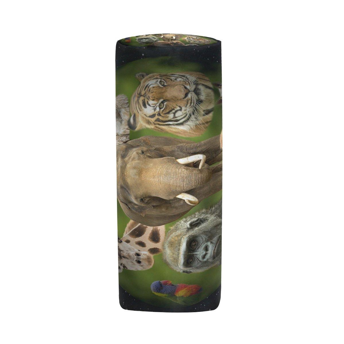 TIZORAX Estuche para lápices de animales con cremallera, organizador de monedas, cosméticos, para mujeres, adolescentes, niñas, niños: Amazon.es: Oficina y ...