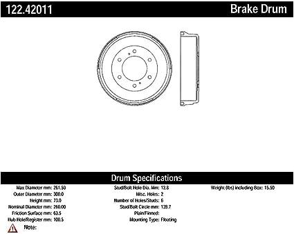 Centric Parts 122.40013 Premium Brake Drum