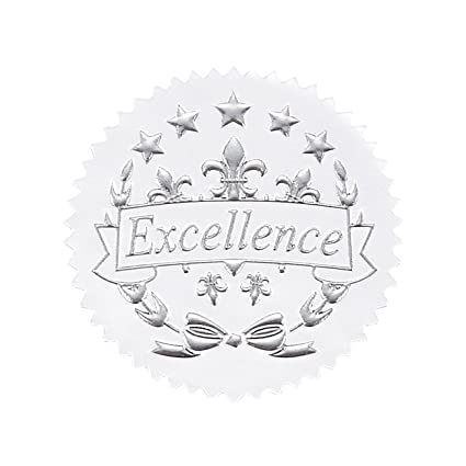 96 award stickers gold certificate seals excellence star stickers