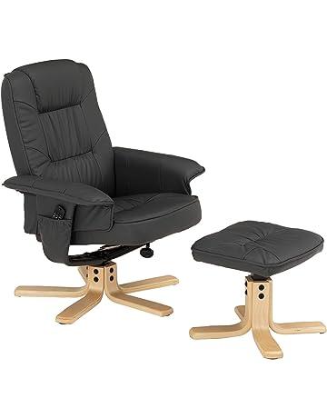 IDIMEX Fauteuil de Relaxation Charly avec Repose-Pieds Pouf, siège pivotant  et Dossier inclinable, Assise rembourrée Confortable et Relax, ... 69e0ec8b5cca