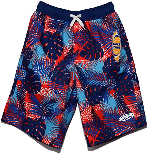 - Surf Zone Boy Swim Trunk (Hibiscus Leaf, 10/12)