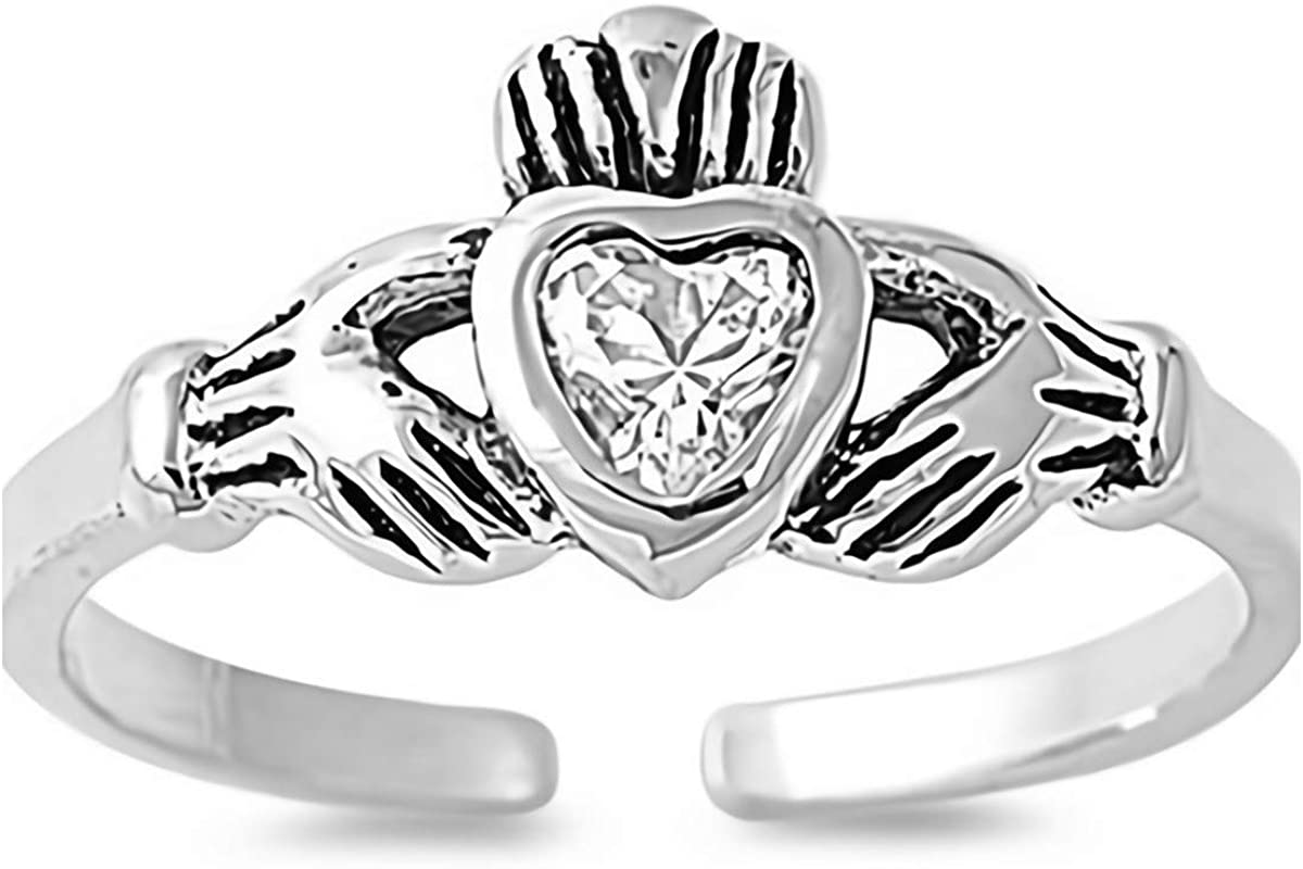 Filigree Wave Glitzs Jewels 925 Sterling Silver Ring Cute Jewelry Gift for Women in Gift Box