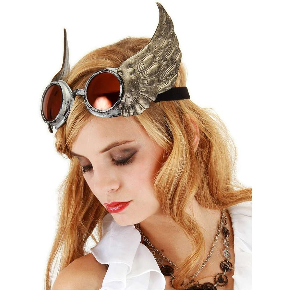 Winged Goggles Costume Accessory