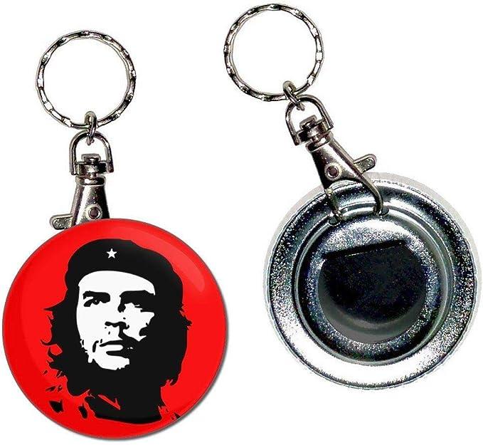 Che Guevara 55mm Knöpfe Abzeichen Flaschenöffner Schlüsselanhänger Neu