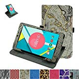 """Mama Mouth 360 Degree Rotating Stand With Cute Pattern Case for 8"""" Nextbook Ares 8 (NXA8QC116) / Flexx 8 (NXW8QC132) / Nextbook 8 (Old Version NXW8QC16G) Windows 8.1 Tablet,Map Wihte"""