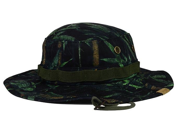 fd040ff6071 Amazon.com  Hurley - Safari Camo Flex Fit Bucket Boonie Hat  Clothing