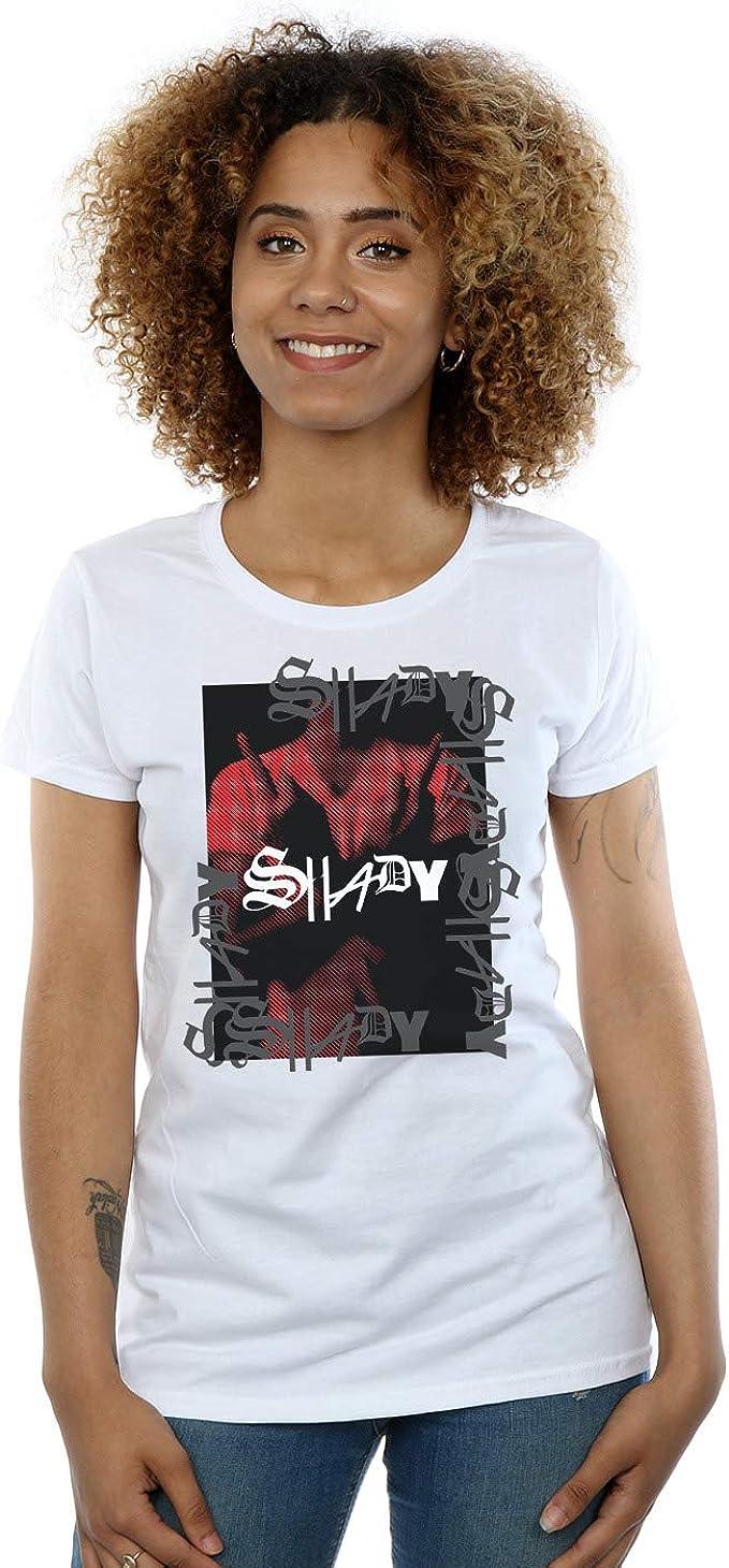 Absolute Cult Eminem Mujer Red Shady Camiseta