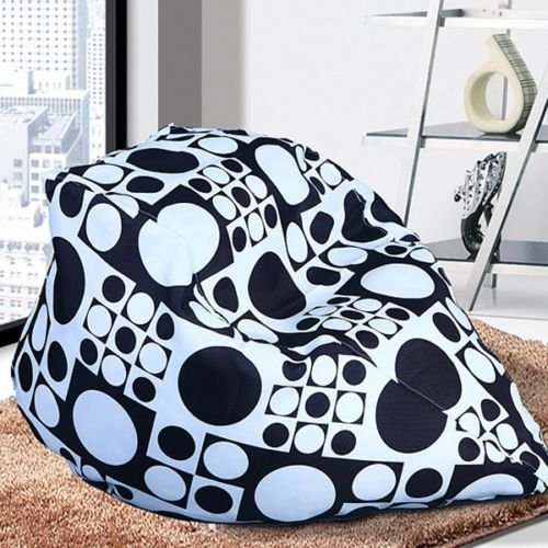 Bean Bags Chairs, Bean Bags Bulk Unisex New BeanBag Indoor Bean Bag Sofa Lounge Chair, Bean Bags For Kids (Black White) (Pottery Barn Factory Store)