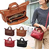 Brenice Multi Pockets Shoulder Bags Vintage Walles Motorcycle Bag For Women Brown 9.45''x 3.15''x 6.30''(LxWxH)