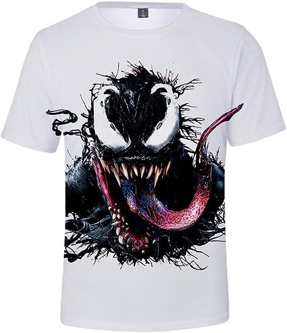 Venom Ragazzi e Bambini Maglietta 3D Stampato Fantastico Estiva Fashion T-Shirt