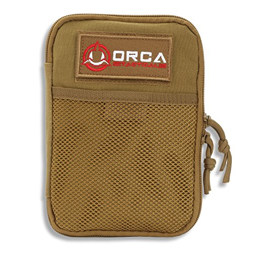 Orca Tactical MOLLE Gadget EDC Utility Pocket Pouch Organizer (Coyote Brown)