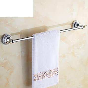 Blue And White Porcelain Towel Bar/Chrome Plated Ceramic Bathroom  Accessories/continental Pastoral