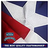 Texas State Flag 3x5 Ft - 100% US Made - with Embroidered Stars, Sewn Stripes and Heavy Duty Long Lasting Nylon, UV Protected, 3 by 5 USA Flag and Texas Flag