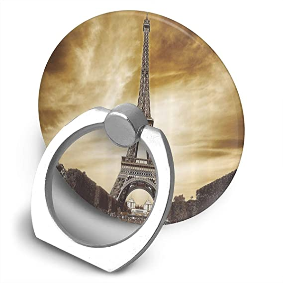 Paris Eiffel Tower Antique Landscape France Landmarks Vintage Phone Ring  Stand Holder, Cell Phone Holder