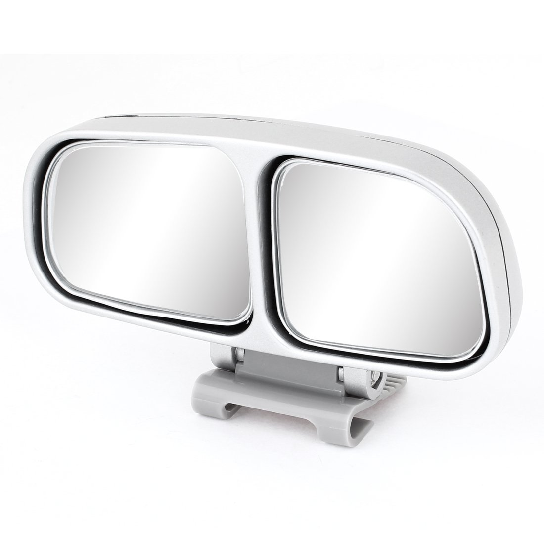 Auto Car Gray Plastic Adhesive Tape Left Blind Spot Parking Rearview Mirror