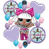lol party Supplies Birthday LOL Balloons Bouquet Decorations Bundle For (XL Diva Super-Shape)