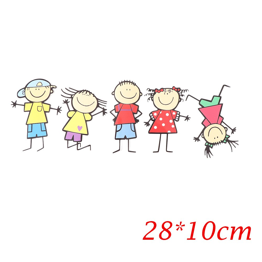 Wall of Dragon 1PC 2810cm Funny Cute Family Kids Children Cartoon toys Boy Girl Waterproof Sticker Window Body Decal Personality Car Styling