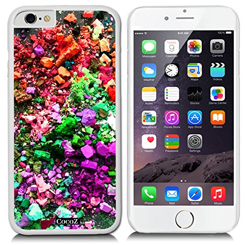 - CocoZ New Apple iPhone 6 s 4.7-inch Case Beautiful Personalized Color PC Material Case (White PC & Personalized Color 8)