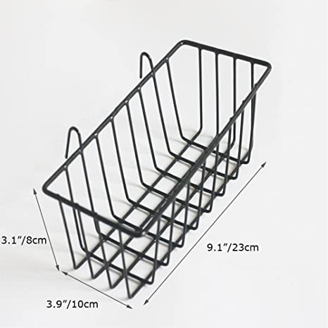 Amazon Com Anzome Grid Basket Wire Wall Basket With Hook Wall