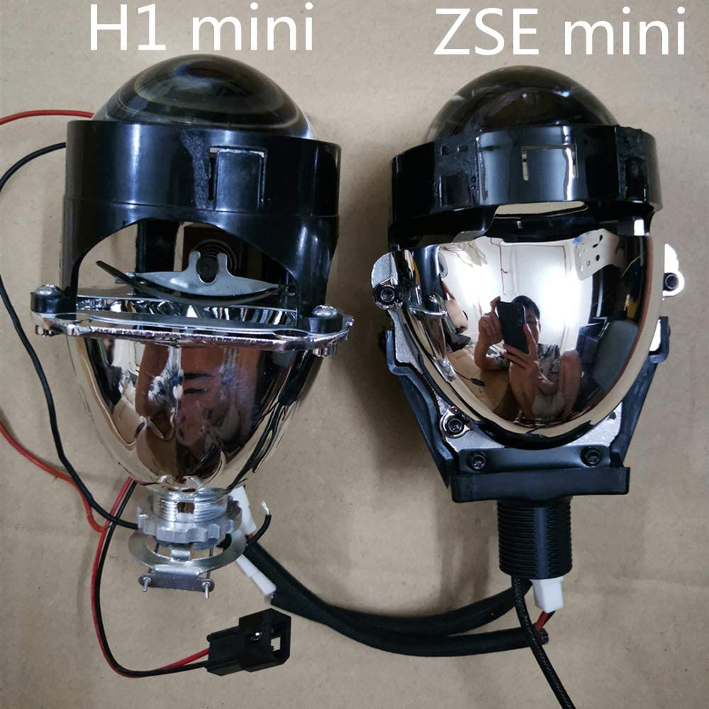 Dland OWN ZSE 2.5 Bi LED Projector Lens Kit 2.5 Inch Easey Installation 36w Biled Focus Low Beam and High Beam With Dual Angel Eye Shrouds