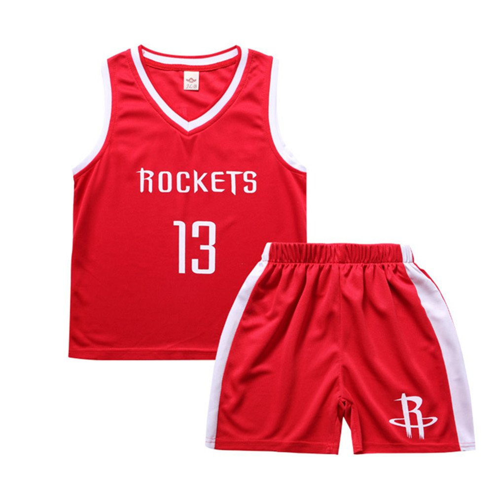 FTSUCQ Boys Basketball Jersey Sports Suits Polo Shirt + Shorts