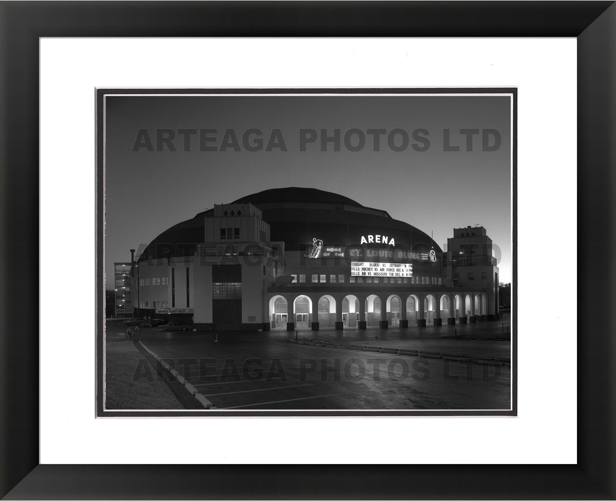 St. Louis Arena 'The Old Barn' - Original Photography Print - Arteaga Photos - 24''x28'' Framed Double Matted Print