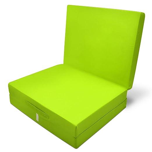 Beautissu Comodísimo colchón Plegable horrar Espacio - Tela de Microfibra - 190 x 80 x 10 cm - Verde: Amazon.es: Hogar