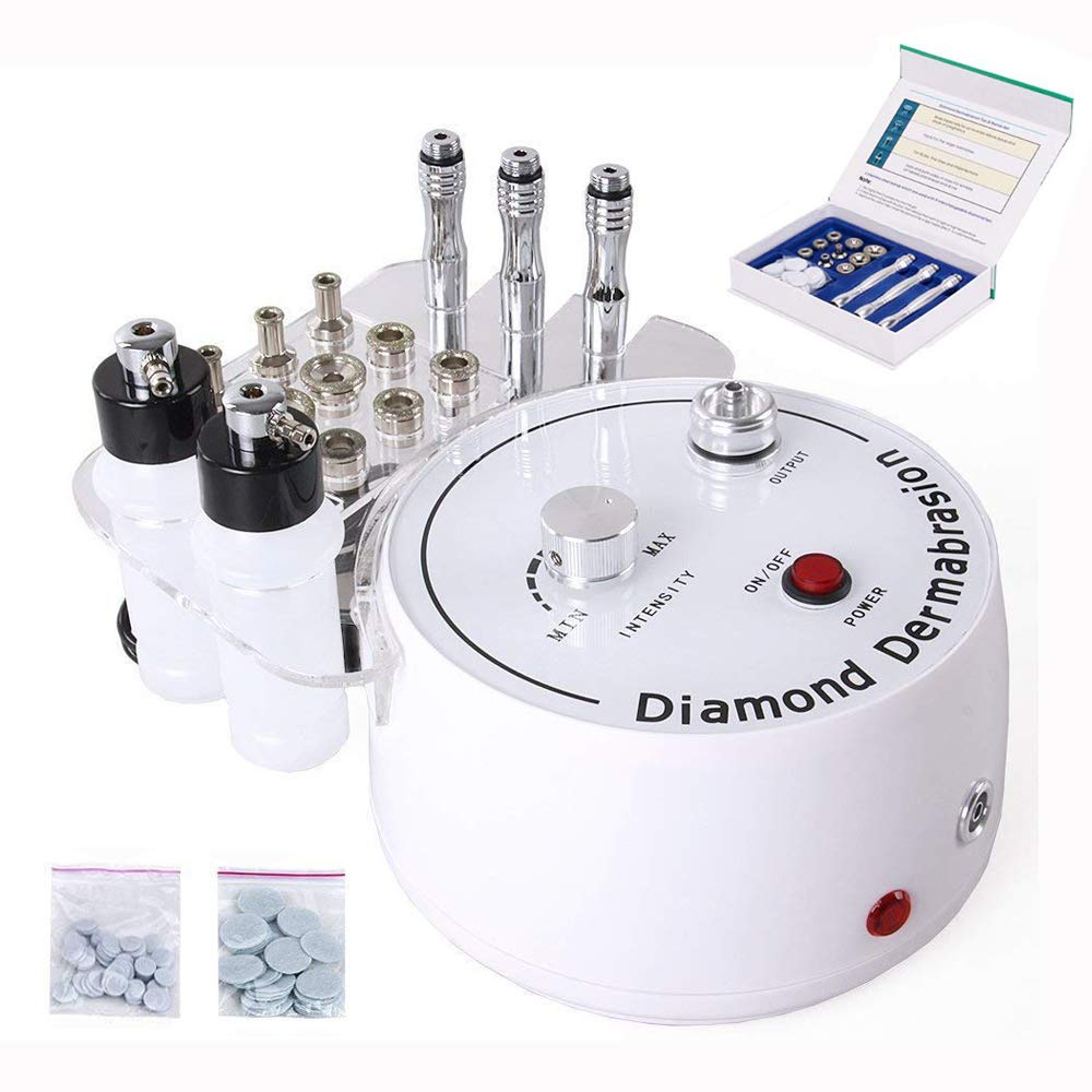 Diamond Microdermabrasion Dermabrasion Machine, TSEMY 0-55cmHg Suction Power Professional Dermabrasion Equipment for Skin Peeling Rejuvenation Lifting Tightening Beauty Device by TSEMY