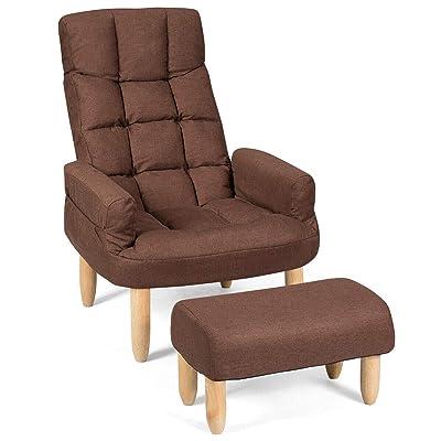 Giantex Folding Lazy Sofa Chair w/Ottoman