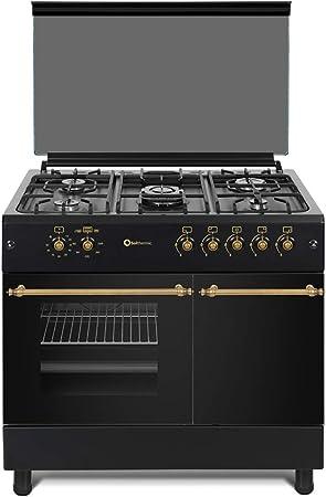 Solthermic F9lt50g2n Gaziniere Noire Pour Bouteilles De Gaz Amazon Fr Cuisine Maison